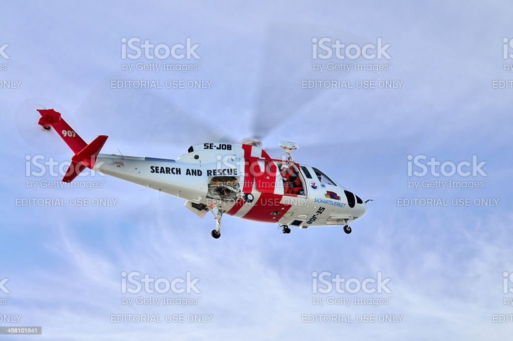 Medical Evacuation And Rescue Helicopter stock photo