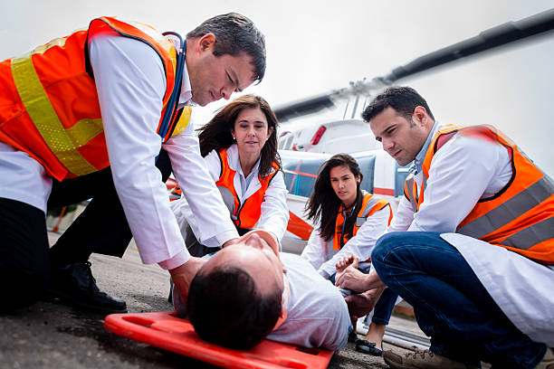 Medical evacuation stock photo