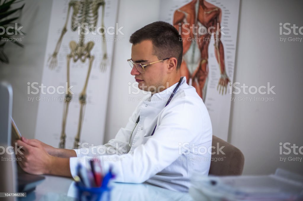 Portrait of a young doctor