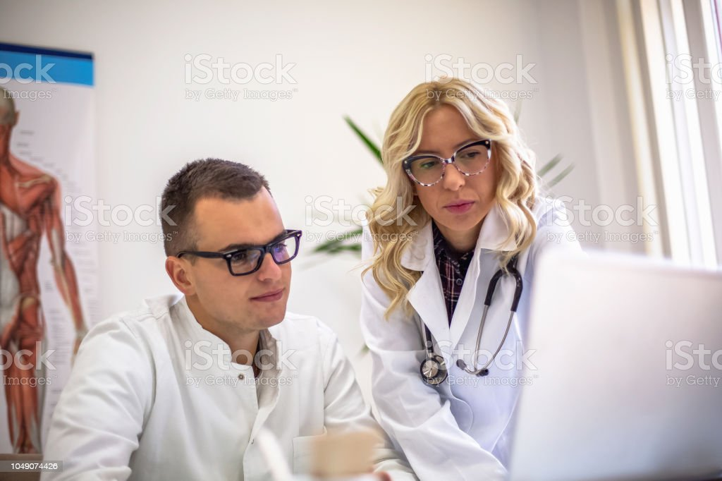 Fellow doctors consulting