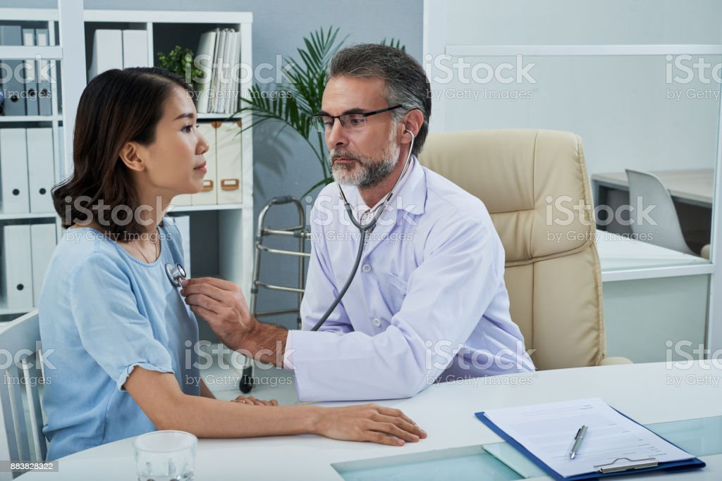 Medical examitation stock photo