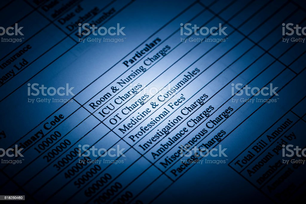 A stock photo of a Medical Expense Claim form. Photographed at 50mp...