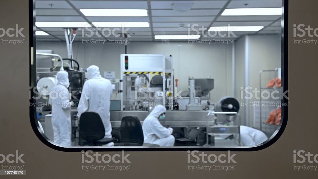 Medical factory production laboratory stock photo