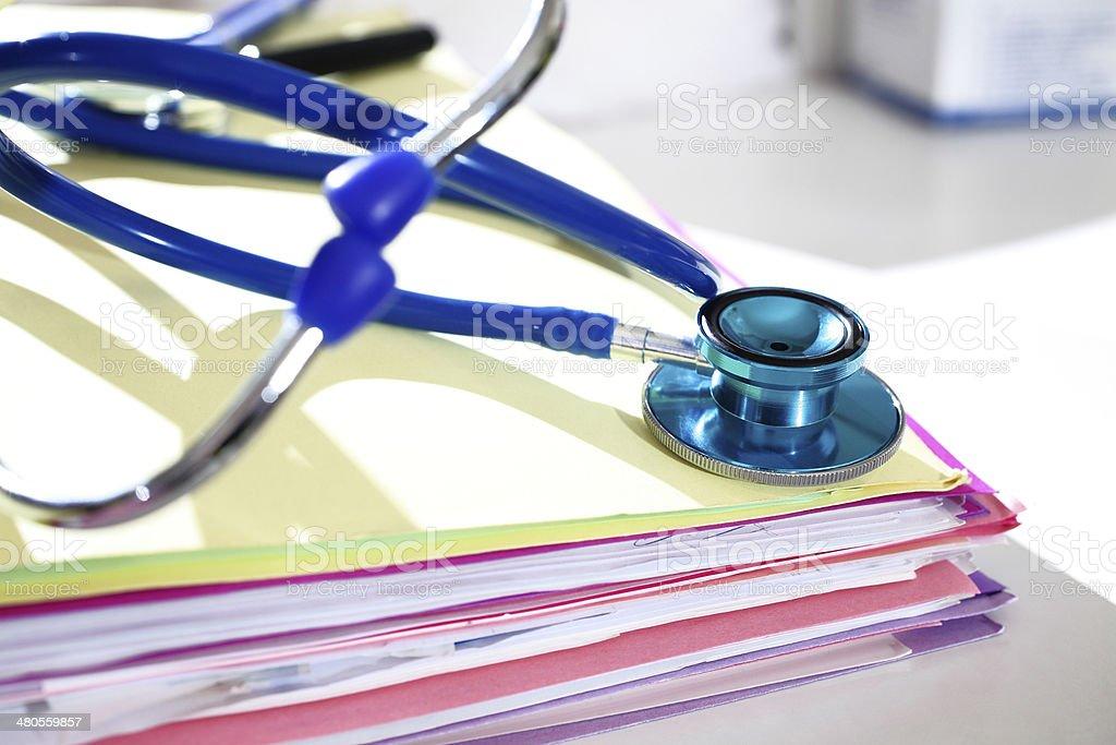 medical files stock photo