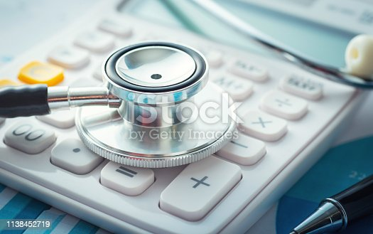 Hospital, Bank, Medical Building, Healthcare And Medicine, Calculator