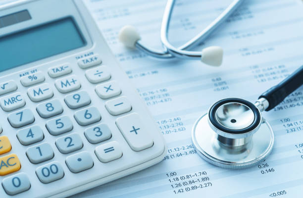 Medical finance insurance Hospital, Bank, Medical Building, Healthcare And Medicine, Calculator expense stock pictures, royalty-free photos & images