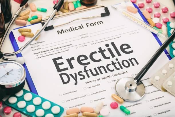 Medical form, diagnosis erectile dysfunction Medical form on a table, diagnosis erectile dysfunction erectile dysfunction stock pictures, royalty-free photos & images