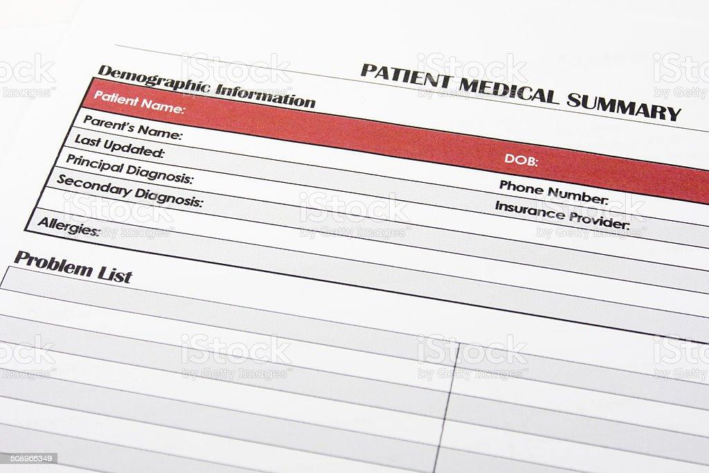 Medical Form, document