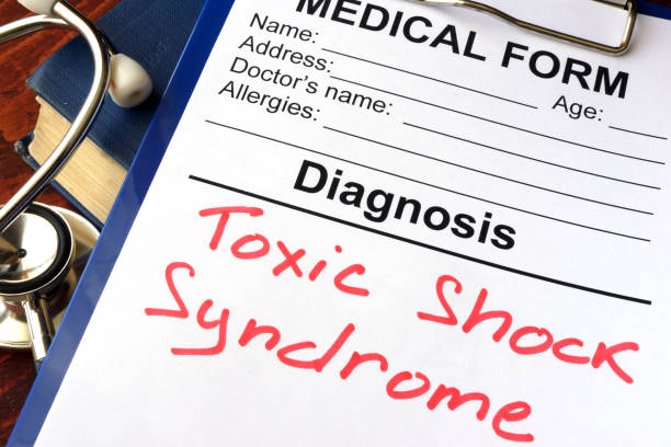 Medical form with diagnosis Toxic shock syndrome. stock photo