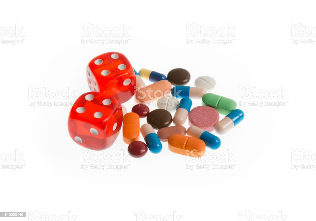 Medical Gambling Drugs addiction and risks stock photo