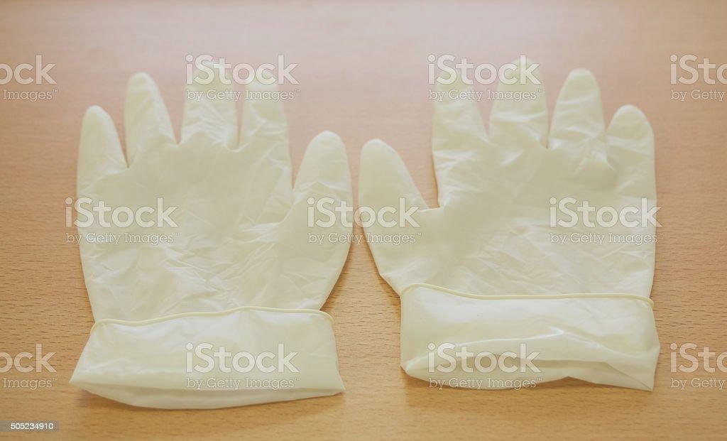 Medical gloves stock photo