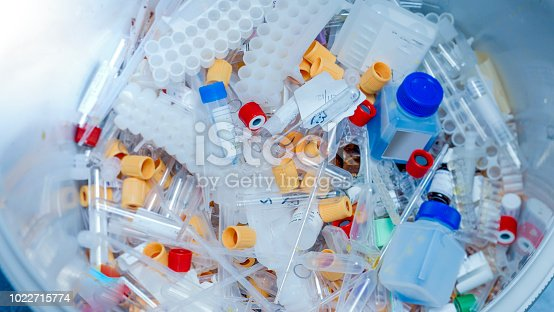 Pile of Microcentrifuge Tubes - Medical Plastic