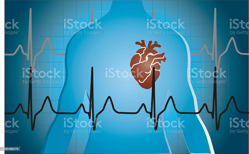 medical heart background stock photo