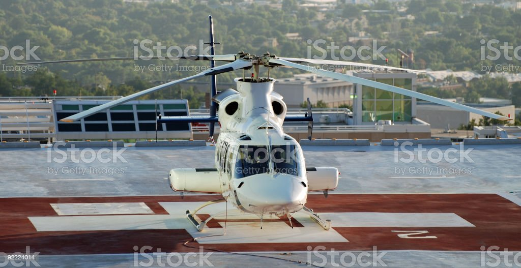 Medical Helicopter ready for emergency stock photo