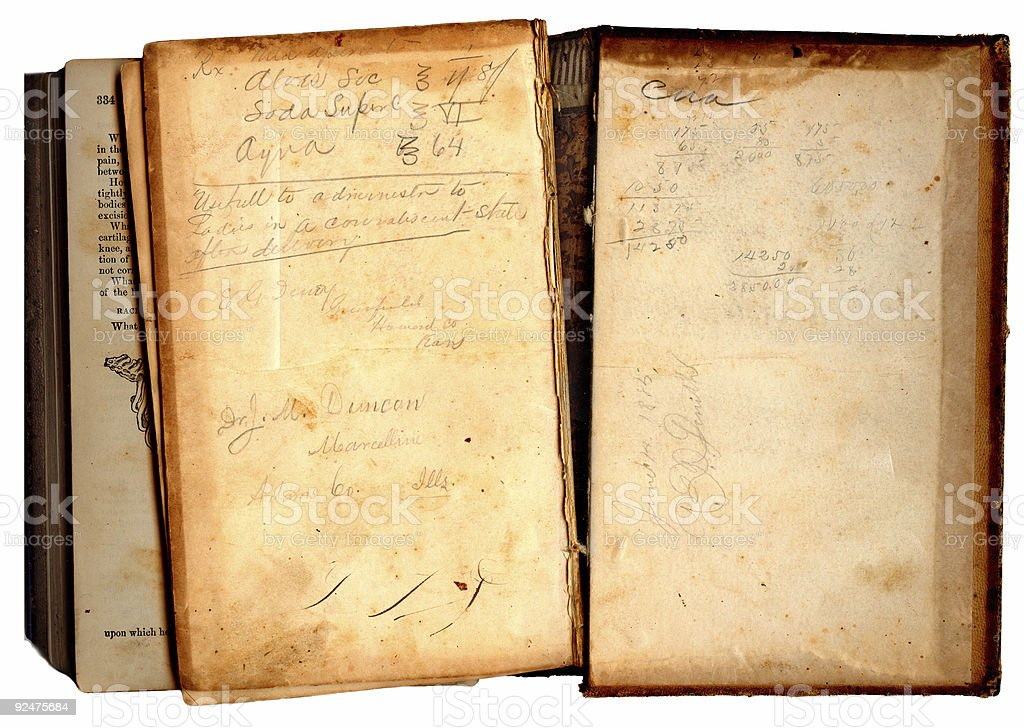 Medical Historical Notes royalty-free stock photo