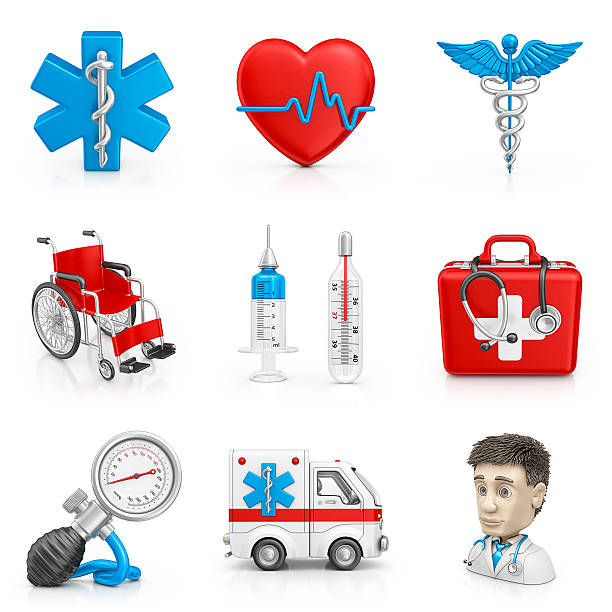 medical icons - caduceus stock pictures, royalty-free photos & images