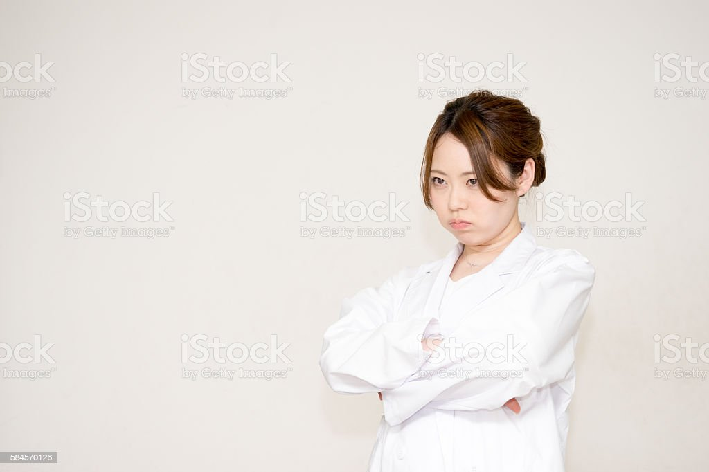 Medical image (doctor, women, nurse, research and lab coat) stock photo