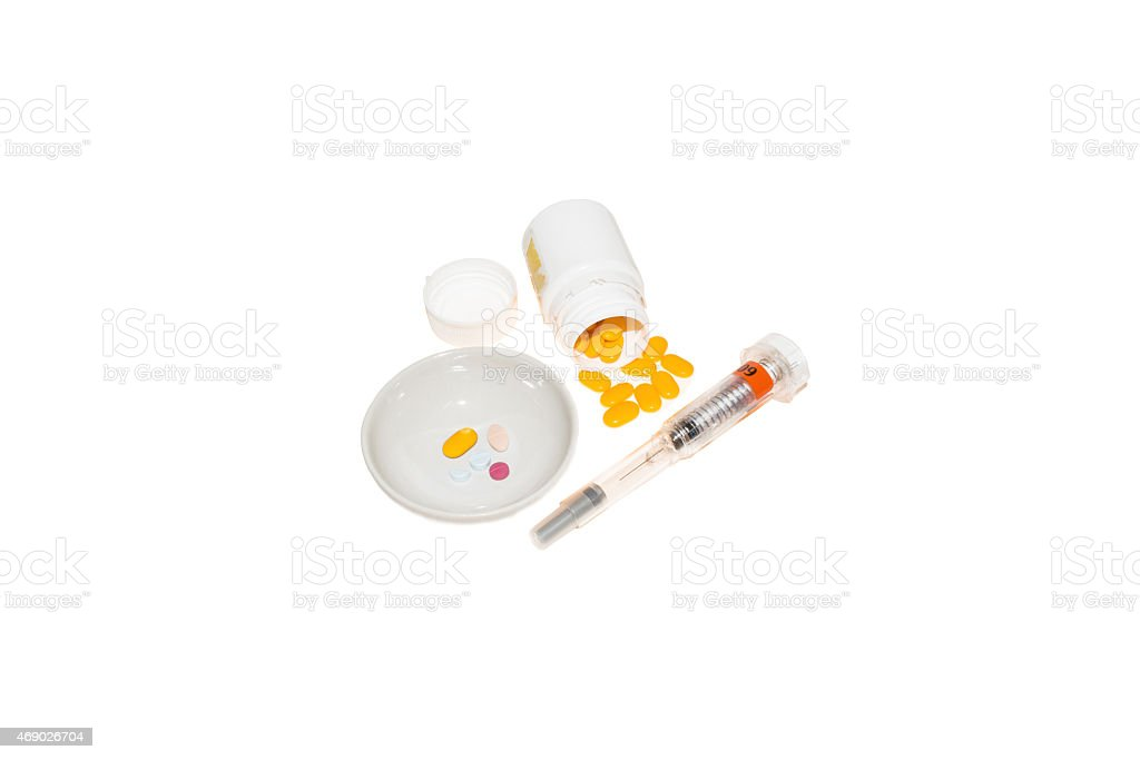 Medical injection isolated on white stock photo