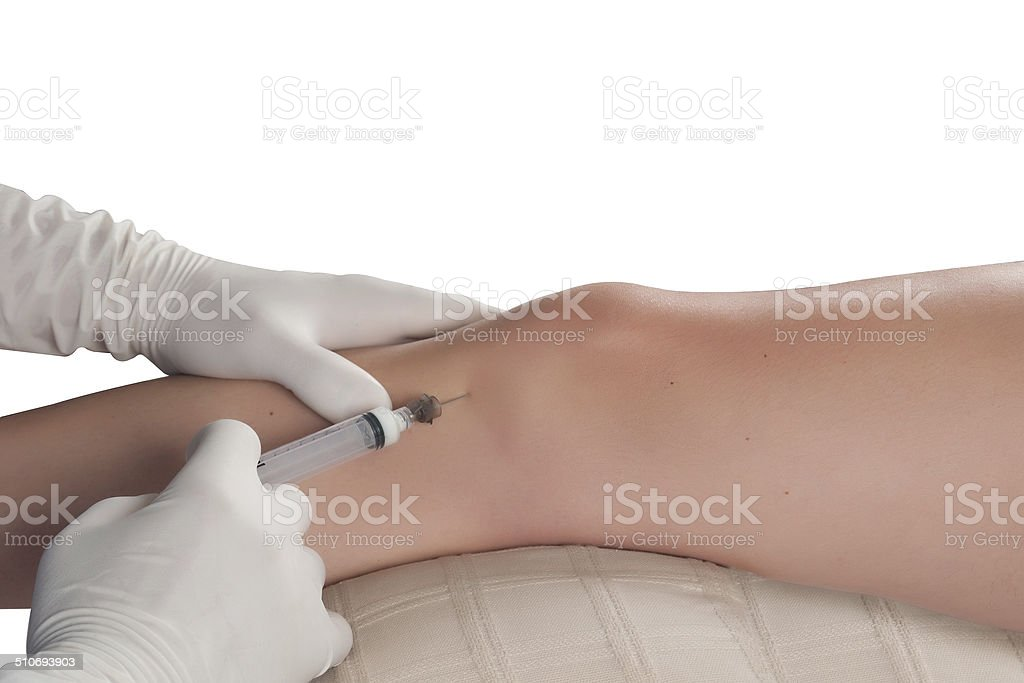 Medical injection stock photo