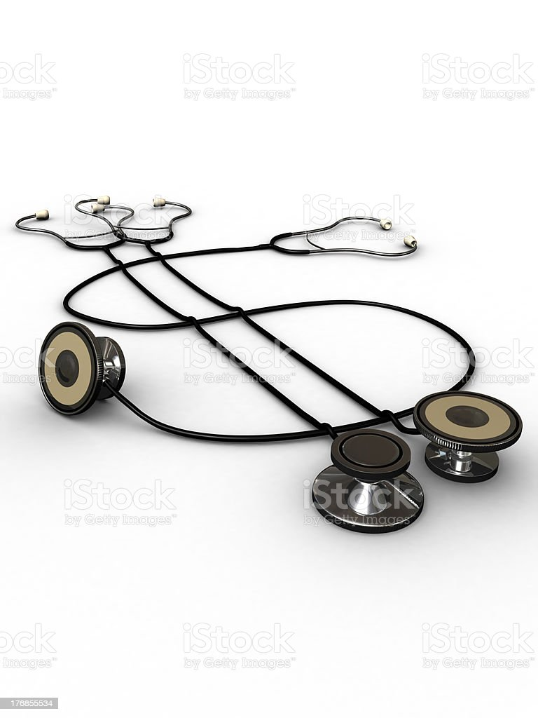 Medical Insurance - Stethoscope Dollar Sign royalty-free stock photo