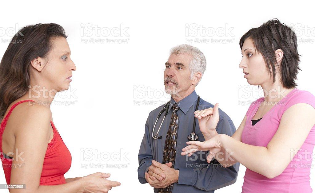 Medical Interpreting royalty-free stock photo