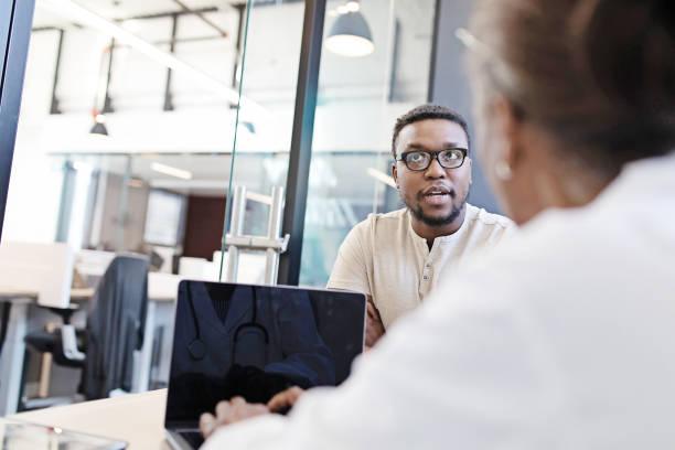 Medical Job Interview stock photo