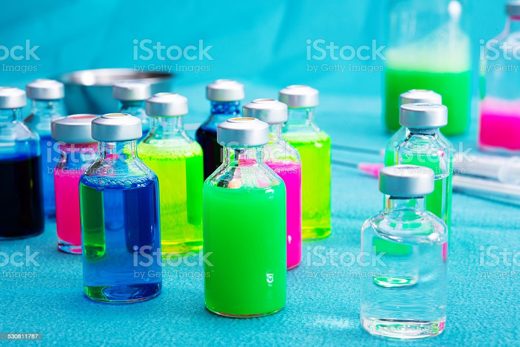 medical laboratory with drogs stock photo