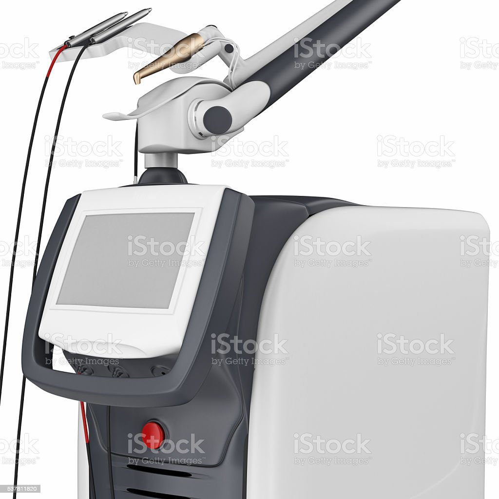 Medical laser device, close view stock photo