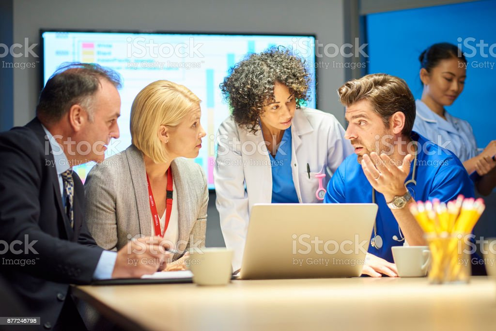 medical legal briefing stock photo