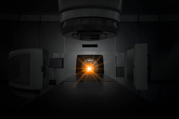Medical linear accelerator Medical linear accelerator in the therapeutic oncology irradiation stock pictures, royalty-free photos & images