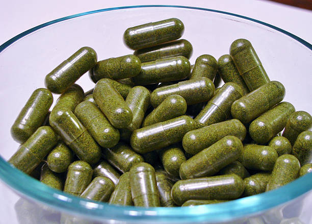 Medical Marijuana Capsules stock photo