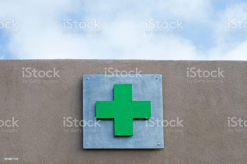 Medical Marijuana Dispensary Symbol stock photo