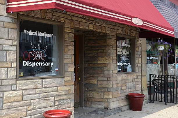 Medical marijuana dispensary, Ypsilanti, MI stock photo