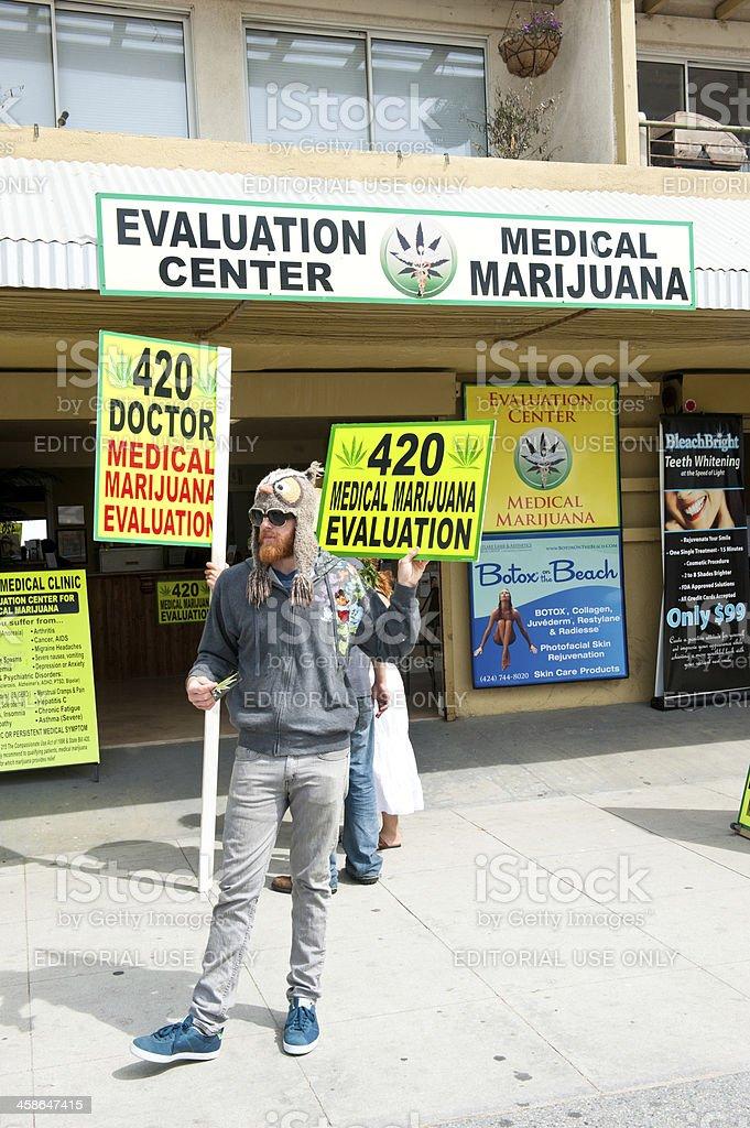 Medical marijuana evaluation center royalty-free stock photo