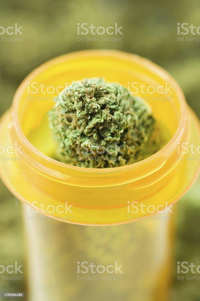 medical marijuana in prescription bottle royalty-free stock photo