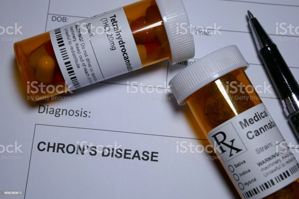 Medical Marijuana - inflammatory bowel disease stock photo