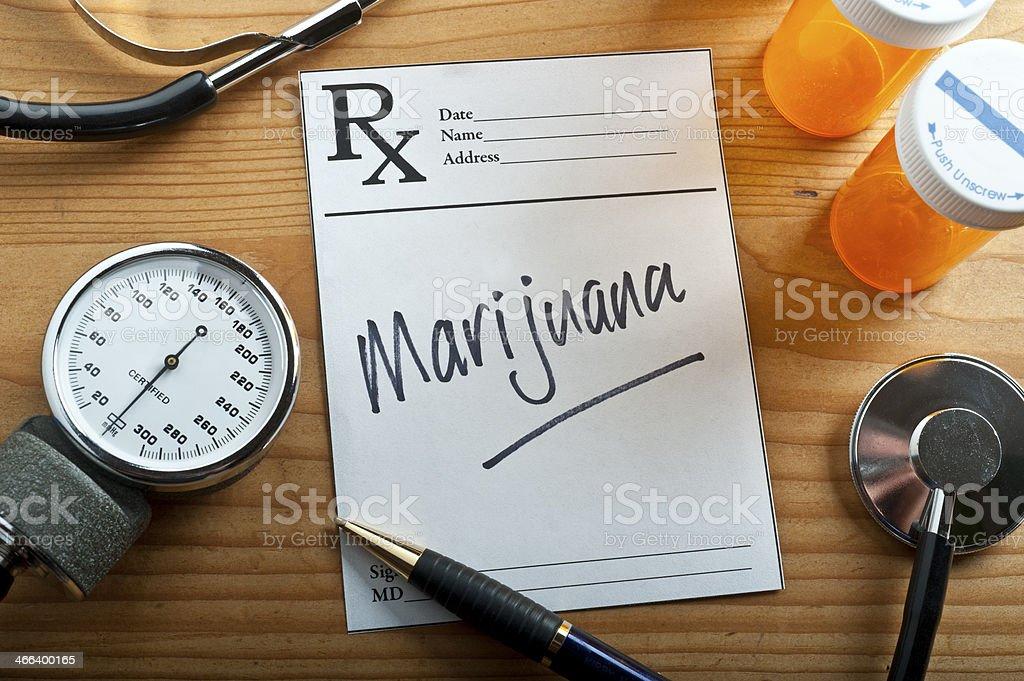 Medical Marijuana Prescription stock photo