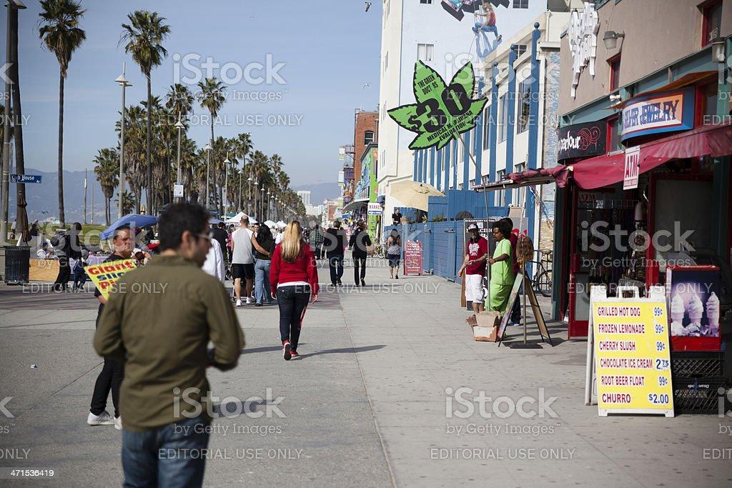 Medical Marijuana store on Venice Beach royalty-free stock photo
