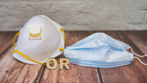 Medical masks for coronavirus covid-19 which to choose stock photo