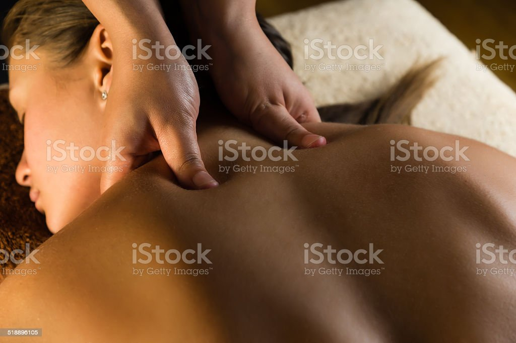 Medical massage stock photo