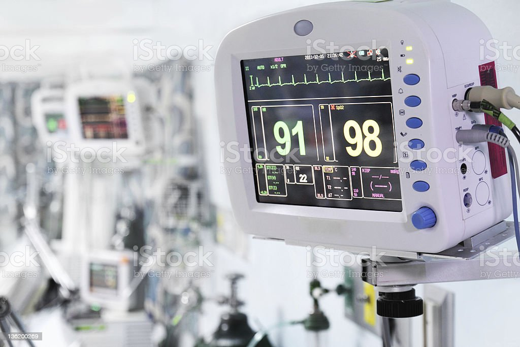 Medical monitors stock photo