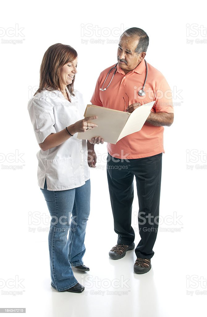 Medical Nurse and Casual Doctor royalty-free stock photo