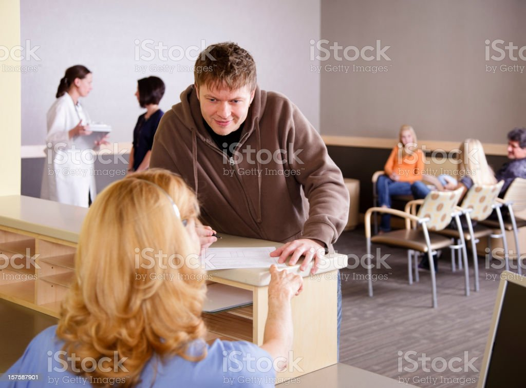 Medical Office Reception Area royalty-free stock photo