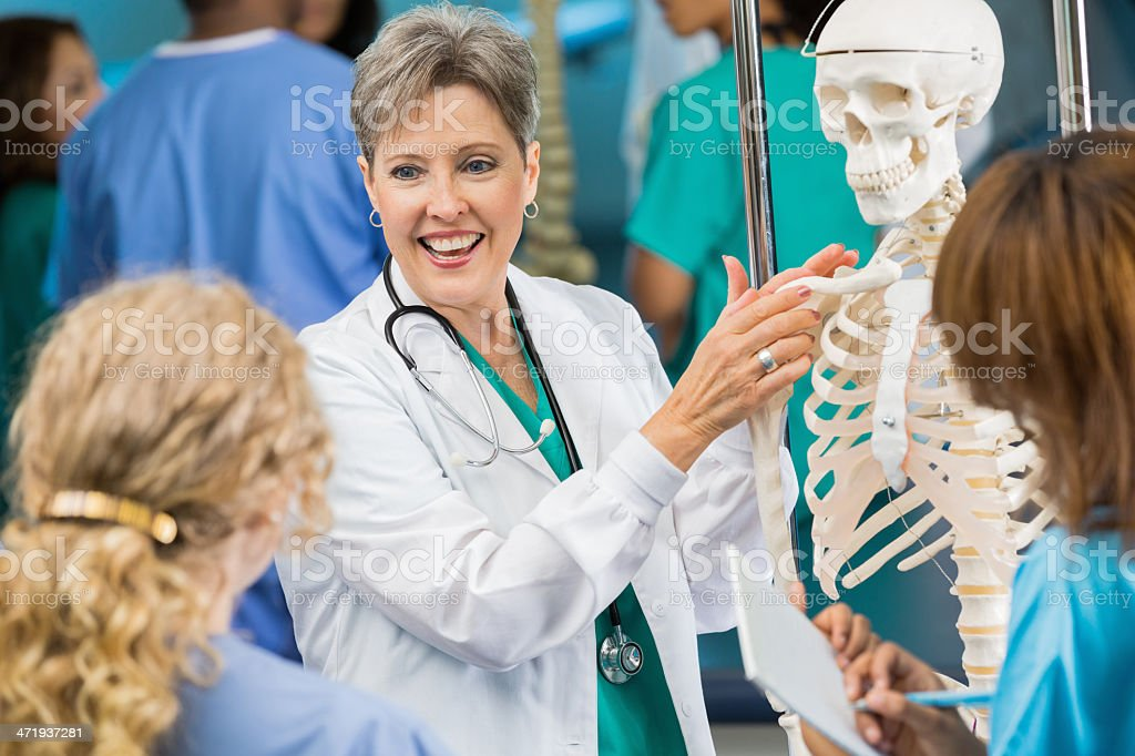 Fotografía de Médico O De Enfermería Profesor Utilizando Anatomía ...