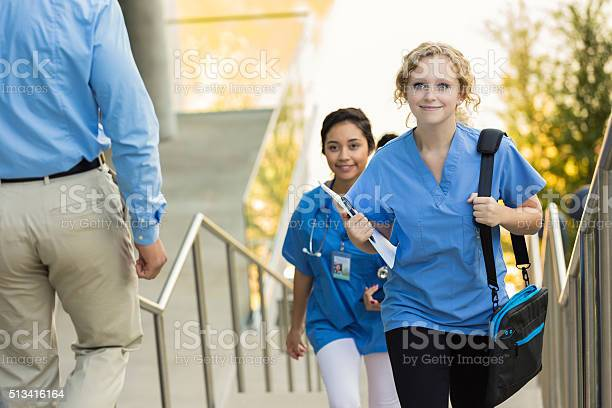 Medical or nursing school student walking to class picture id513416164?b=1&k=6&m=513416164&s=612x612&h=wijm0a ew9 3iphw04bqshjsaefrsoxfvxzryrmbve4=