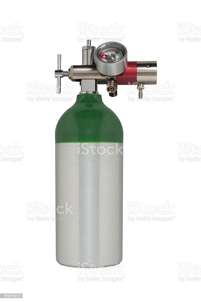 Medical Oxygen Tank  Aluminum Stock Photo
