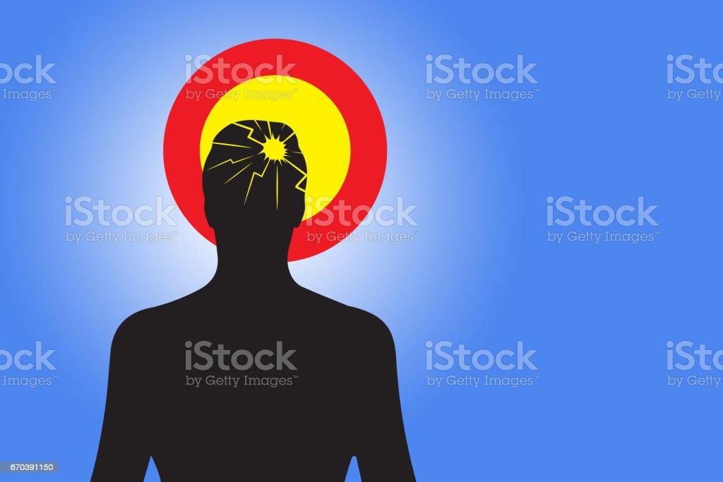 Medical Pain Concept Headache / Brain - Photo