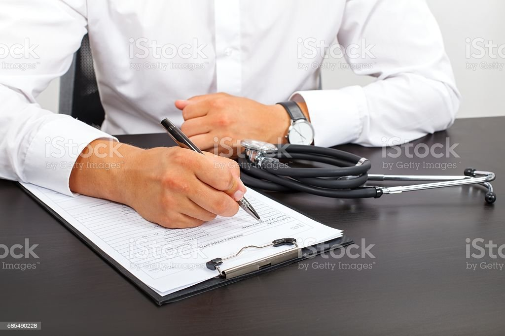 Medical paperwork stock photo