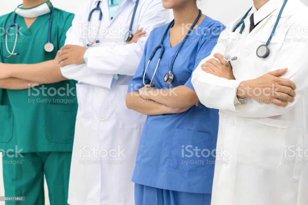 Medizinische Menschen - Ärzte, Krankenschwester und Chirurg. – Foto