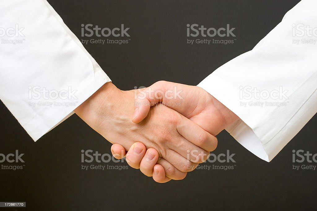 Medical people handshake stock photo